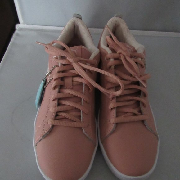 Puma Womens Low Top Pink Leather Tennis